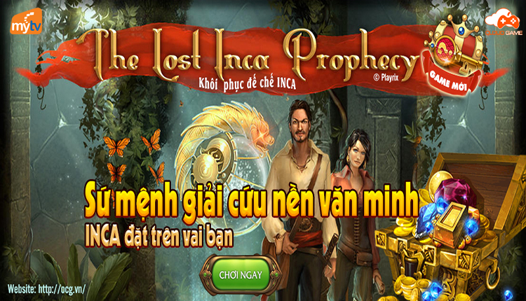 Cloud Game ra mắt tựa game mới Khôi phục Inca (The Lost Inca Prophecy)